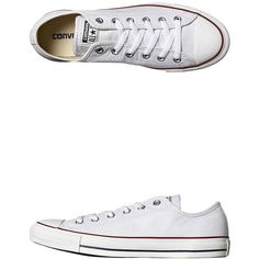 Converse Womens Chuck Taylor All Star Leather Shoe Womens Shoes White (120 AUD) ❤ liked on Polyvore