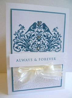 Stampin' Up! This Day Forward Wedding Card.  More details at http://astampingjourney.wordpress.com/2014/02/04/this-day-forward-wedding/