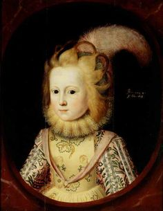 Lady Margaret Sackville (1614–1676), Later Countess of Thanet, Aged 4 by Paulus van Somer I (attributed to) 1618 Oil on panel, 56 x 43 cm Collection: National Trust. Dau. of Richard Sackville, 3rd Earl of Dorset & Lady Anne Clifford. Her son 3rd Earl of Thanet successfully claimed barony of de Clifford.