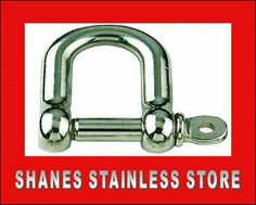Stainless Steel Shackles. * Quality stainless steel fitting used in wire balustrading. * Other sizes available as well. List price: $3.00 #Stainlesssteel Handrail Brackets, Stainless Steel Fittings, Wire, Personalized Items, Cable