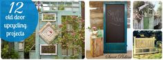 Old doors add a weathered look to just about any project -- get inspired with one of these 12 great ideas!