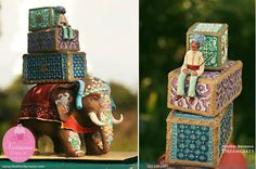 """""""Indian Elephant Grooms' Cake"""" -- This amazing creation is from Heather Barranco Dreamcakes. Crazy Wedding Cakes, White Wedding Cakes, Gorgeous Cakes, Pretty Cakes, Amazing Cakes, India Cakes, Shoe Cakes, Purse Cakes, Indian Theme"""