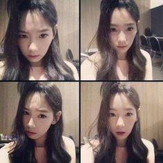 Taeyeon shows off her 'apple hair' in 4-set picture | http://www.allkpop.com/article/2014/04/taeyeon-shows-off-her-apple-hair-in-4-set-picture