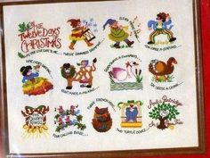 Dimensions #CrewelEmbroidery Kit 8035 #12DaysofChristmas 20x16 inch Frame Size #Dimensions