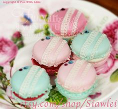 Lace Macaron Bag Charm by Funwithartz on Etsy, $26.80