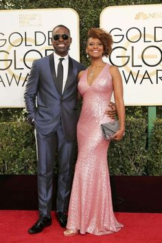 Actor Sterling K. Brown and Ryan Michelle Bathe. Photo: REUTERS