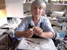 interesting lady, makes a lot of papier mache tutorials▶ Series 1 - part 13 - rings, bangles. Paper Mache Projects, Paper Mache Clay, Paper Mache Sculpture, Paper Mache Crafts, Clay Projects, Clay Crafts, All Paper, How To Make Paper, Paper Art
