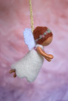 Little guardian angel - felted, waldorf inspired, by Naturechild