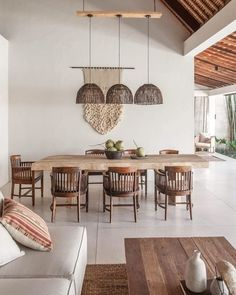 Home Interior Design, Interior Architecture, Interior Decorating, Decorating Tips, Dining Room Inspiration, Home Decor Inspiration, Dining Room Design, Wooden Dining Table Designs, Küchen Design