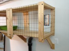 My wife and I were looking for a solution to our cat's litter box being so stinky. We made a Gorm litter box enclosure hack leading to the garage. Outdoor Dog Area, Outdoor Cats, Litter Box Enclosure, Outdoor Cat Enclosure, Diy Litter Box, Liter Box, Dog Rooms, Ikea Hackers, Cat Room