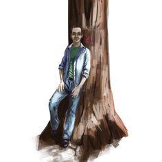 In the woods painting by westieslant.deviantart.com on @DeviantArt