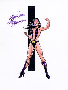 Night Girl - Legion of Substitute Heroes by Ron Frenz