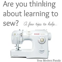 tips for how to learn to sew.