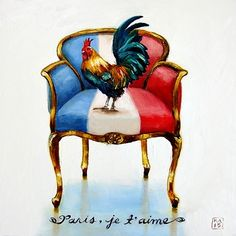 Paris, je t'aime, painting by artist Kimberly Applegate