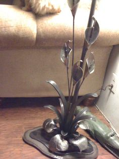 Another view, metal lamp