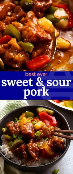 Pork Recipes For Dinner, Meat Recipes, Asian Recipes, Cooking Recipes, Pork Dinner Ideas, Sweet And Sour Pork Chops, Sweet N Sour Sauce Recipe, Recipe For Sweet And Sour Pork, Sweets