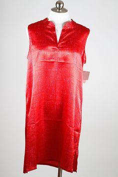 N by Natori Red Dark Pink Tre Sleepshirt XLarge NWT