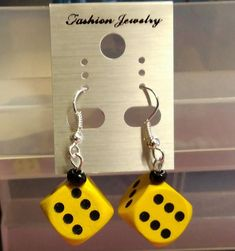 Excited to share the latest addition to my #etsy shop: Wooden Dice Earrings size 15mm Rockabilly Rockenroll 50's https://etsy.me/2I6cSiP