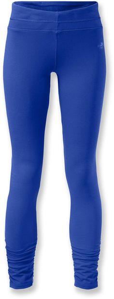At REI Outlet: The North Face Tadasana VPR Leggings. Wicks moisture and has feminine details you'll appreciate.