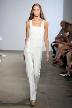 35 Super-New Style Ideas That Might Change Everything #refinery29  http://www.refinery29.com/unique-styling-tips#slide21  The new jumpsuit shape is a hybrid between an overall and a romper.Derek Lam