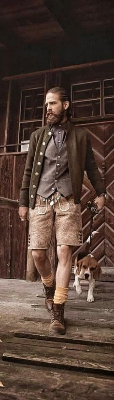 leder-hipster-hosen look | but can the beagle and get him off the set asap | CocoVero Männer Tracht