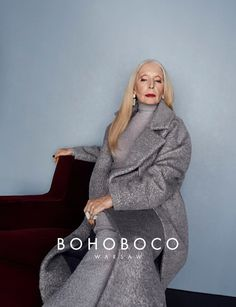 80 year old actress, Helena Norowicz for BOHOBOCO. That's classy!