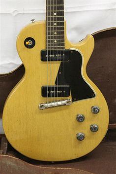 VINTAGE 1956 Gibson Les Paul Special TV Yellow Electric Guitar ORIGINAL w Case