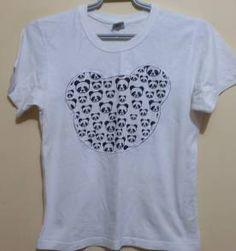 T-shirt branca estampada ref. 89