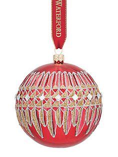 Waterford - Lismore Diamond Glass Ball Ornament