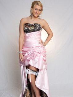 Spectacular pink camo prom dresses