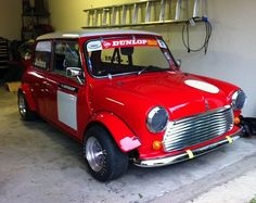 1979 Mini Cooper race car reportedly was built by Mini expert Pete Vickers and raced in the Mini Miglia series by Bill Sollis. It later saw GT4/5 spec racing duty in Canada and now sports a fresh 1380cc full-race motor that makes it seriously quick.