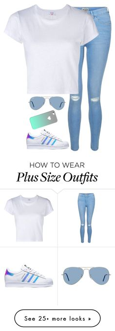 """""""Untitled #874"""" by xlostgirl18 on Polyvore featuring New Look, RE/DONE, adidas…"""