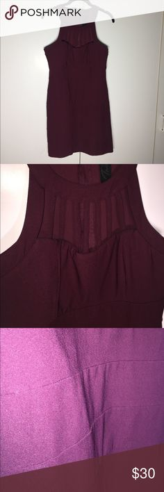 Wine BodyCon Dress Trixxi Wine Colored bodycon dress. neckline cutout strap detailing. Banding in the body hugs curves and is super flattering! Zipper up the back. Worn once! Great dress for a wedding or girls night out! Pair with nude heels and bag! Measurements provided upon request! 🚫 trades, offers welcome! Trixxi Dresses Mini
