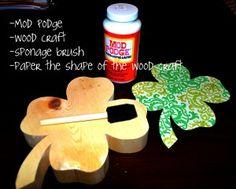 MOD PODGE - How to Mod Podge Craft Paper on Wood
