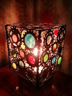 Bicycle Art Stained Glass Lamp by VeloGioielli on Etsy