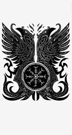 Viking Tattoos For Men, Viking Warrior Tattoos, Tattoos For Guys, Norse Mythology Tattoo, Norse Tattoo, Celtic Raven Tattoo, Viking Tattoo Symbols, Simbolos Tattoo, Armor Tattoo
