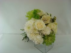 Bridal bouquet, white, ivory, green. www.plushflowers.ca