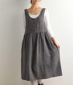 Houndstooth jumper skirt (B · dark gray)
