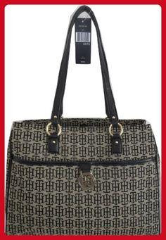 1c34dbe46e868d Tommy Hilfiger Tote Shopper Satchel Bag Canvas Black - Wallets (*Amazon  Partner-Link