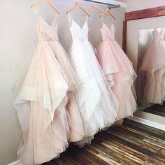 Gorgeous A-line V-neck Spaghetti Straps Long Wedding Dress,2017