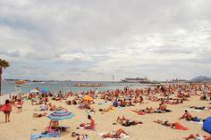 Remembering Europe   Local beach at #Cannes www.akanksharedhu.com