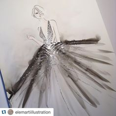 """#Repost @elemartiillustration with @repostapp. Inspired by Roberto Cavalli Atelier"""