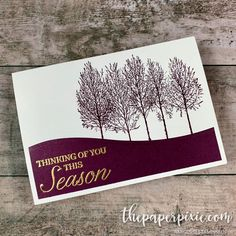Blackberry Bliss Winter Woods - The Paper Pixie Christmas Cards 2018, Stamped Christmas Cards, Homemade Christmas Cards, Merry Christmas Card, Handmade Christmas, Holiday Cards, Christmas 2019, Homemade Cards, Christmas Crafts