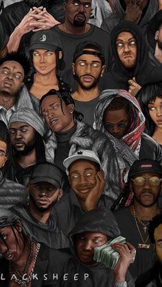 Rappers I love Black Love Art, Black Girl Art, Art Girl, Arte Do Hip Hop, Hip Hop Art, Harey Quinn, Dope Cartoon Art, Rapper Art, Rap Wallpaper