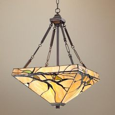Budding Branch Glass Pendant Light  -- A little bit of naturalist craftsman in the living room!