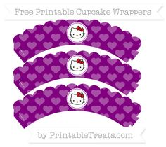 Free Purple Heart Pattern  Hello Kitty Scalloped Cupcake Wrappers