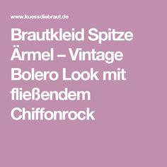Brautkleid Spitze Ärmel – Vintage Bolero Look mit fließendem Chiffonrock