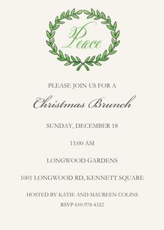 Olive Branch Invitation Christmas Open House, Christmas Brunch, Kids Christmas, Christmas Dinner Invitation, Dinner Party Invitations, Open House Invitation, Invitation Design, Ugly Sweater Party, Holiday Parties