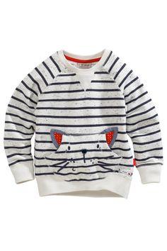 Buy Stripe Neppy Cat Pocket Crew Neck (3mths-6yrs) from the Next UK online shop