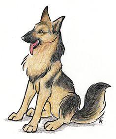 Happy German Shepherd by ~WildSpiritWolf on deviantART